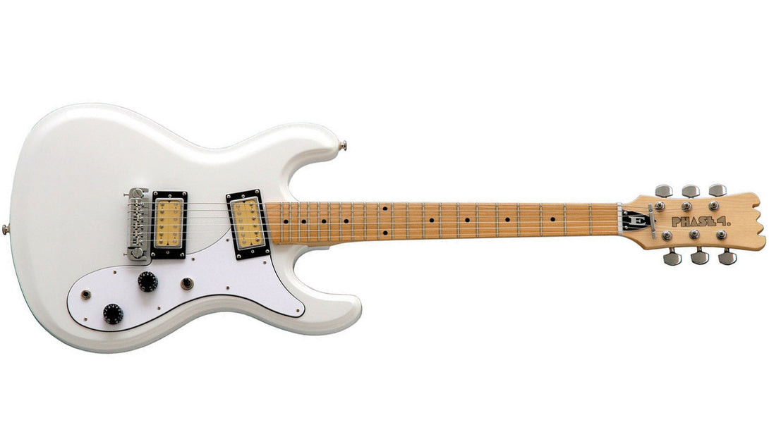 Eastwood Guitars Hi Flyer Phase 4 White Angled
