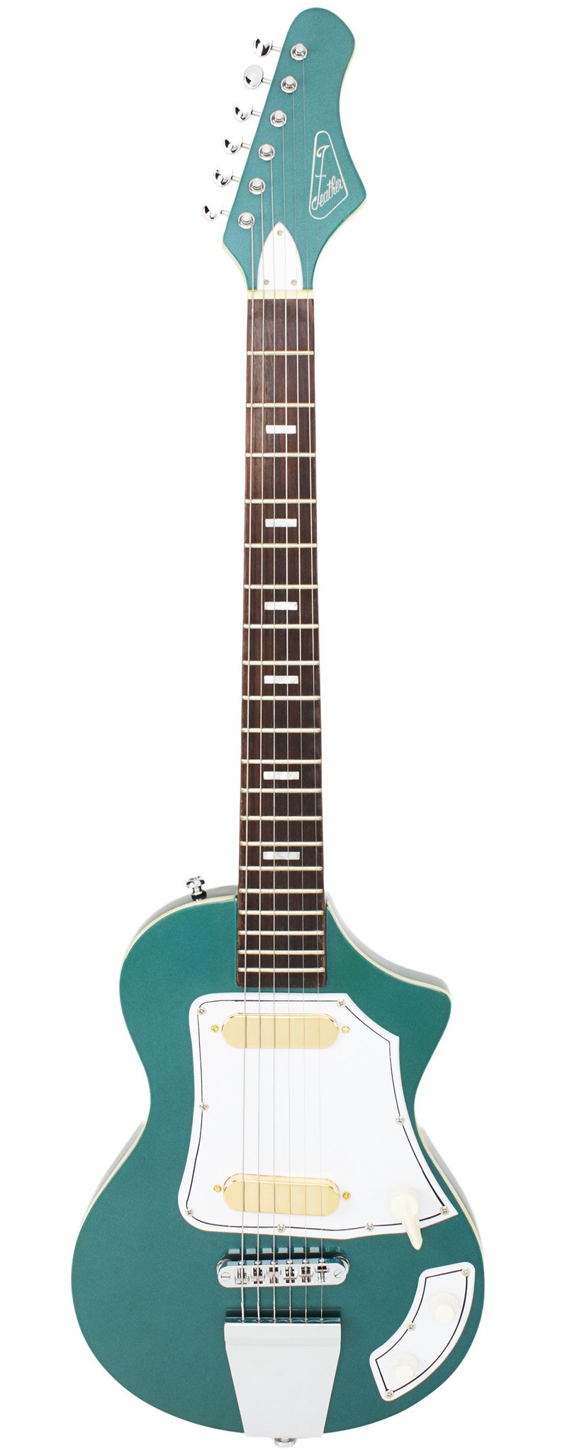 Eastwood Guitars LG50 Metallic Teal Full Front