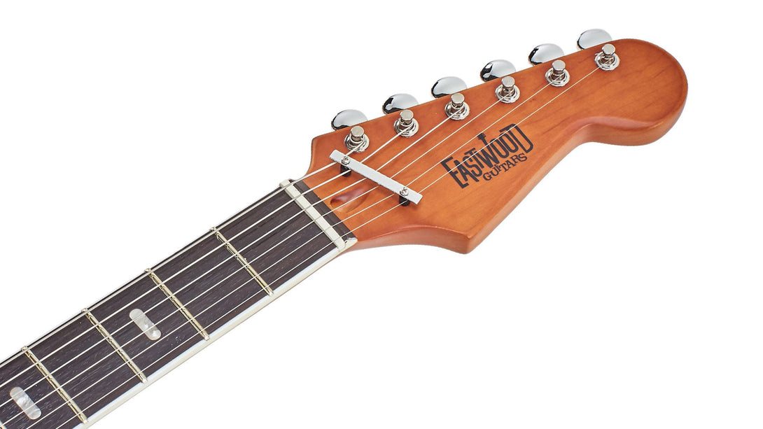 Eastwood Guitars SD40 HoundDog Redburst Headstock
