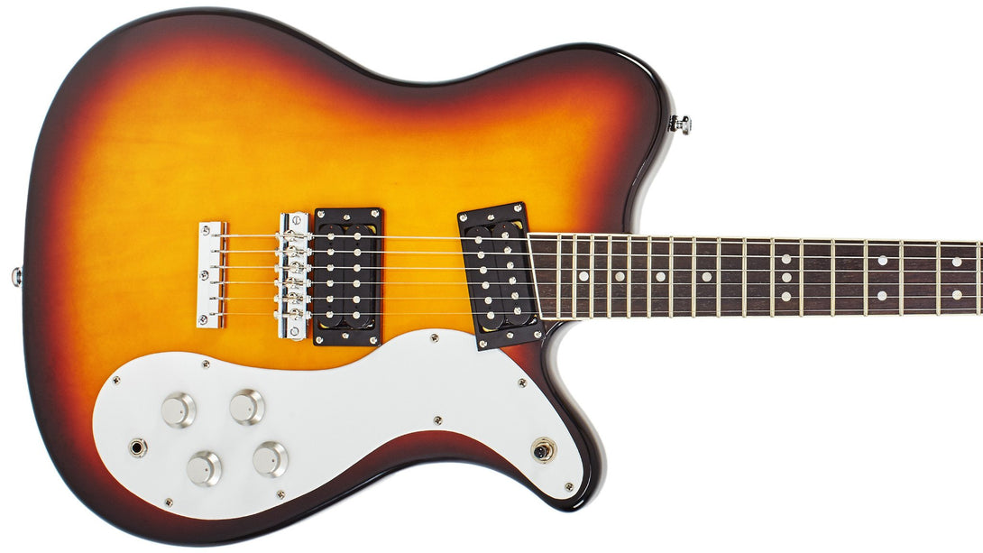 Eastwood Guitars Sidejack 300 Tobacco Burst Closeup