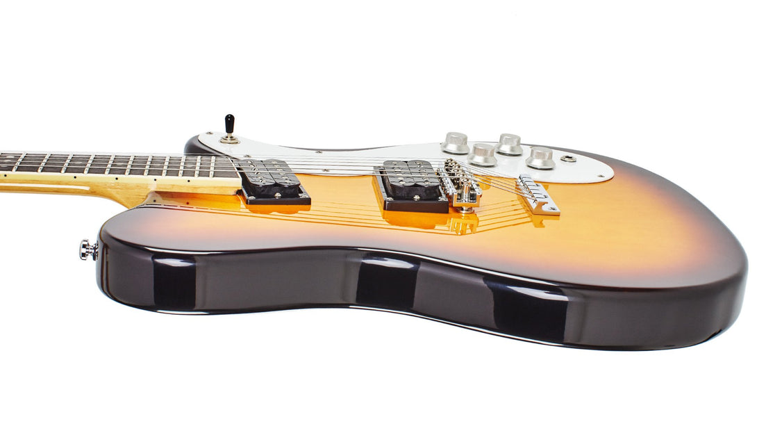 Eastwood Guitars Sidejack 300 Tobacco Burst Player POV