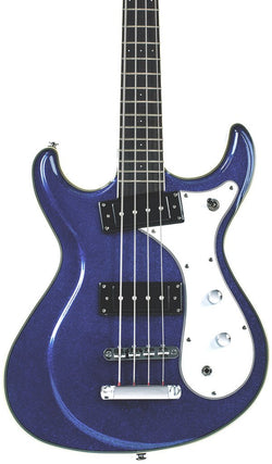Eastwood Guitars Sidejack Bass 32 Metallic Blue Featured
