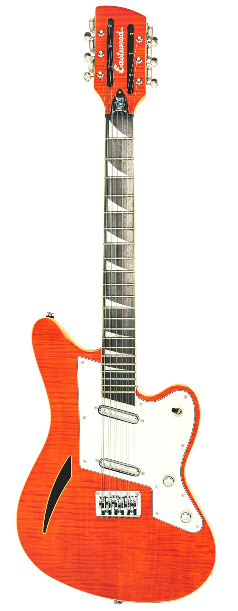 Eastwood Guitars Surfcaster 12 Orange Flame Full Front