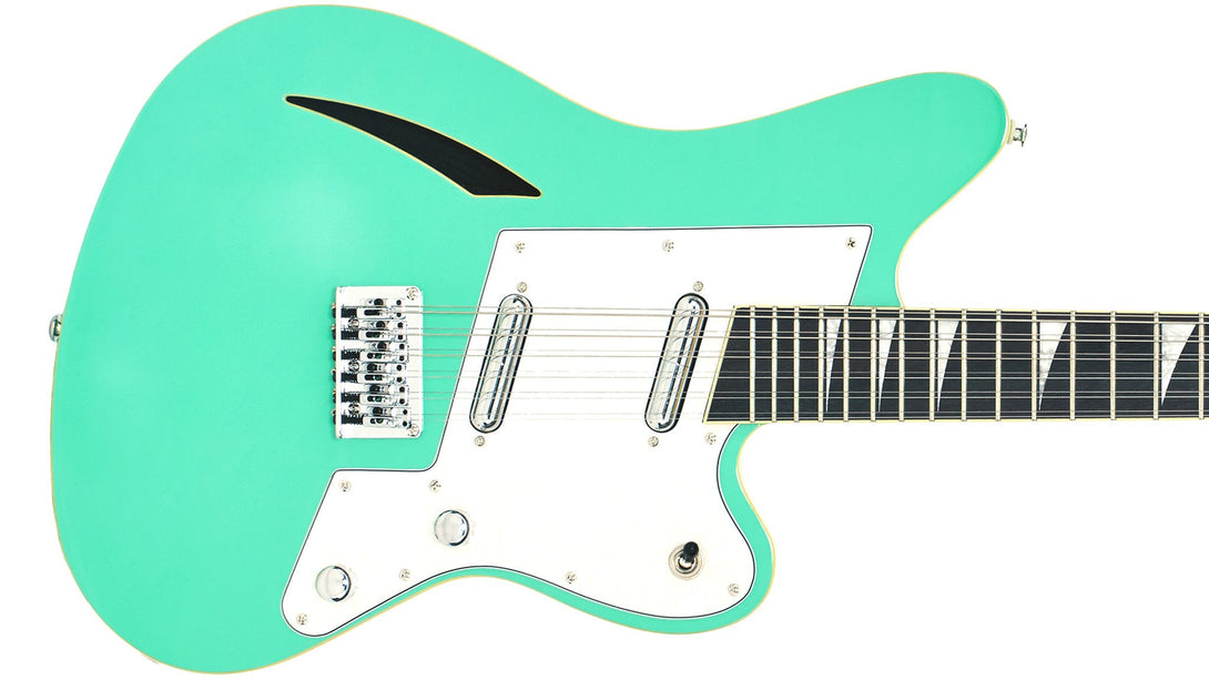 Eastwood Guitars Surfcaster 12 Seafoam Green Closeup