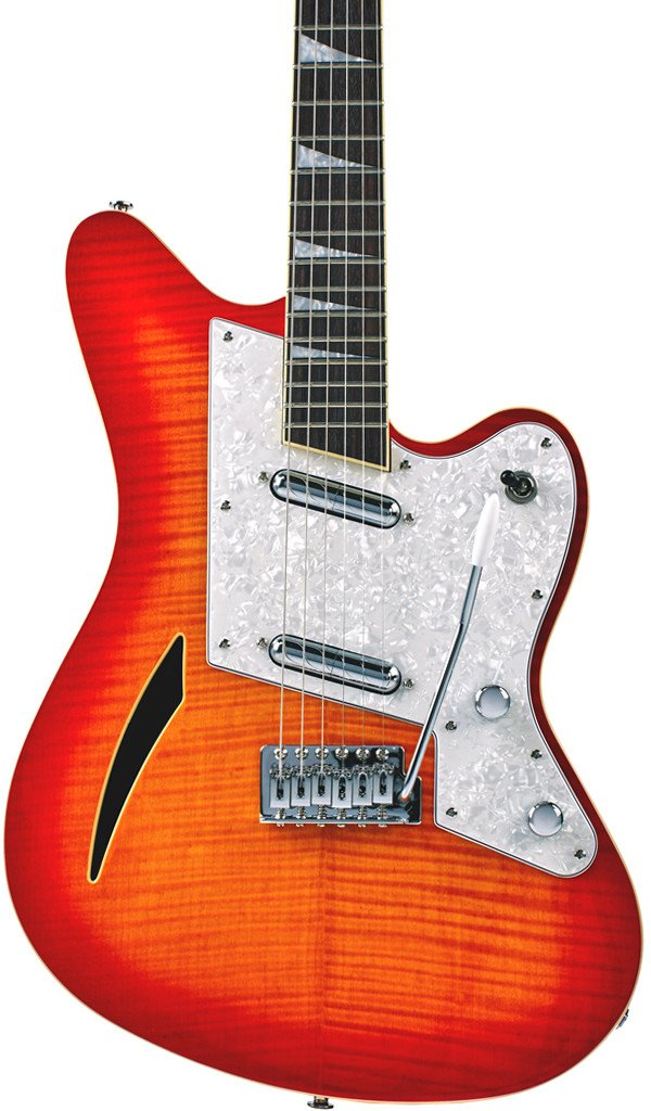 Eastwood Guitars Surfcaster Cherryburst Featured