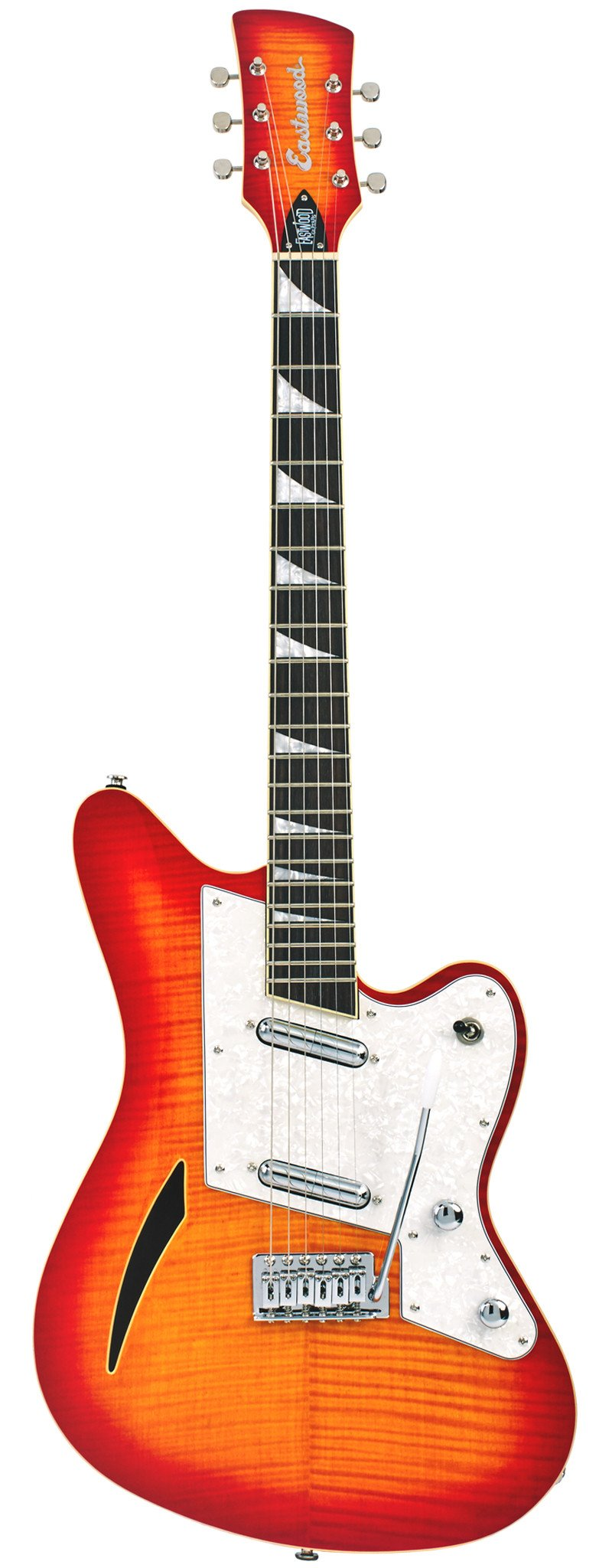 Eastwood Guitars Surfcaster Cherryburst Full Front