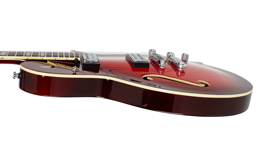 Eastwood Guitars The Cosey Cherryburst Player POV