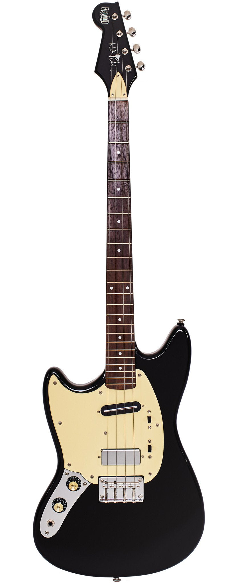 Eastwood Guitars Warren Ellis Tenor Baritone 2P Black Left Hand Full Front