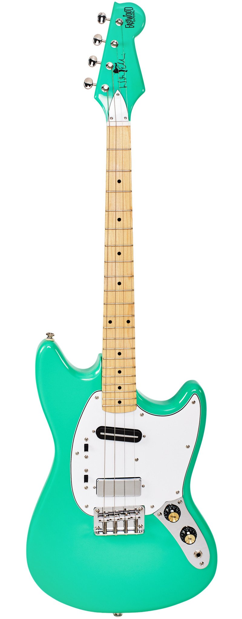 Eastwood Guitars Warren Ellis Tenor 2P Seafoam Green Full Front