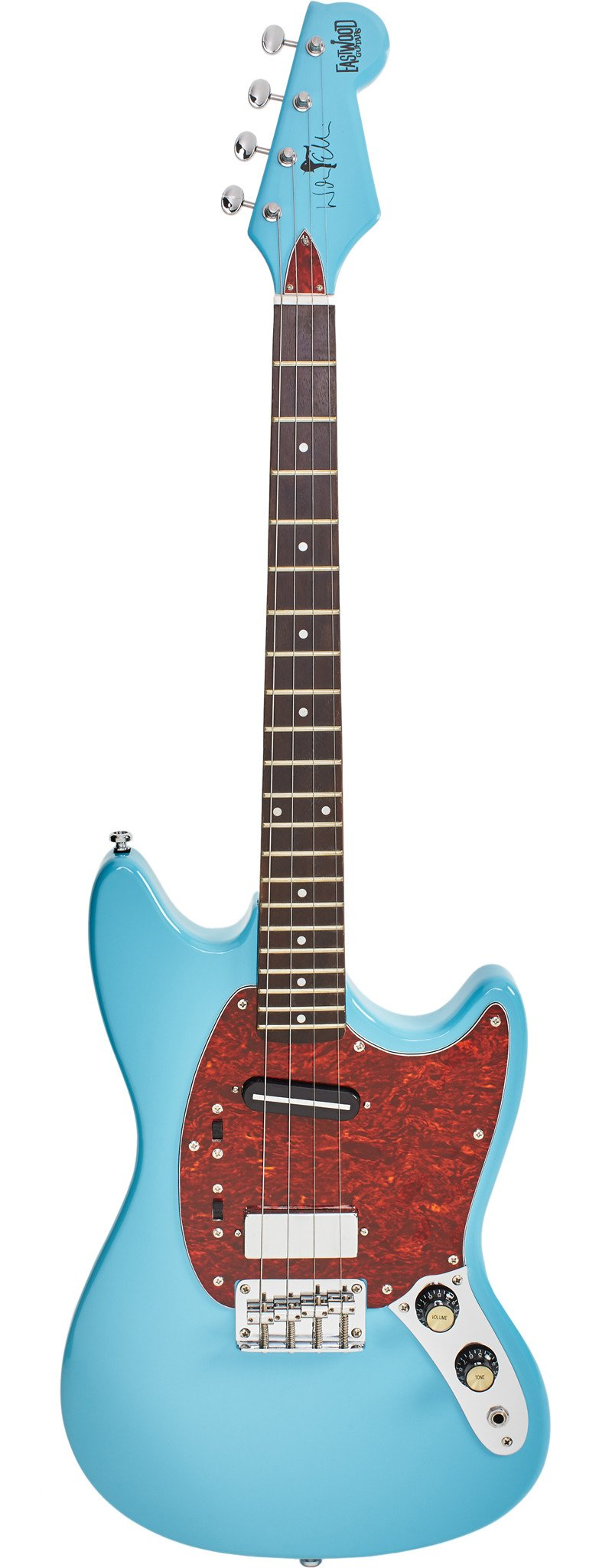 Eastwood Guitars Warren Ellis Tenor 2P Sonic Blue Full Front