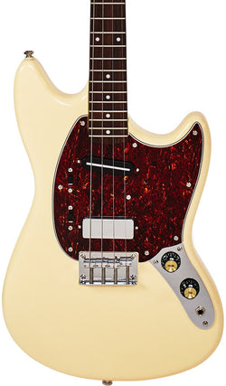 Eastwood Guitars Warren Ellis Tenor 2P Vintage Cream Featured