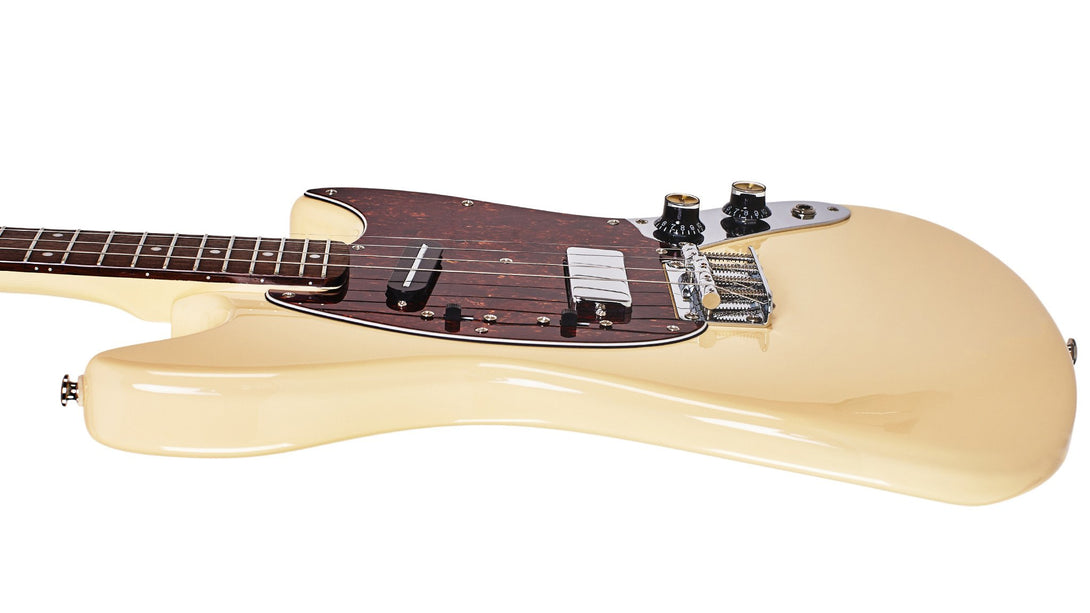 Eastwood Guitars Warren Ellis Tenor 2P Vintage Cream Player POV
