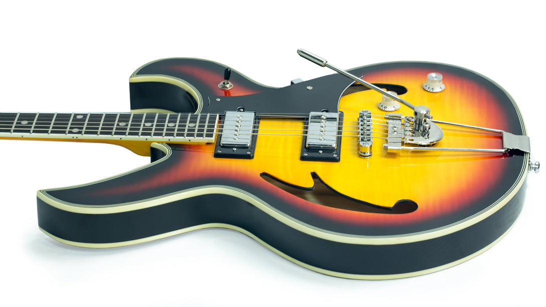 Eastwood Guitars Fire Bird Sunburst Player POV