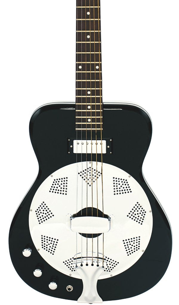 Eastwood Guitars Airline Folkstar Black LH Featured