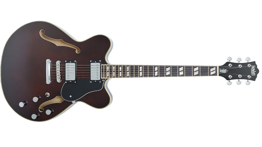 Eastwood Guitars Classic 6 HB Walnut Angled