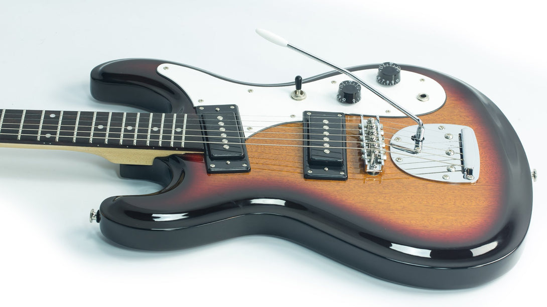 Eastwood Guitars Hi Flyer Phase 4 Sunburst Player POV