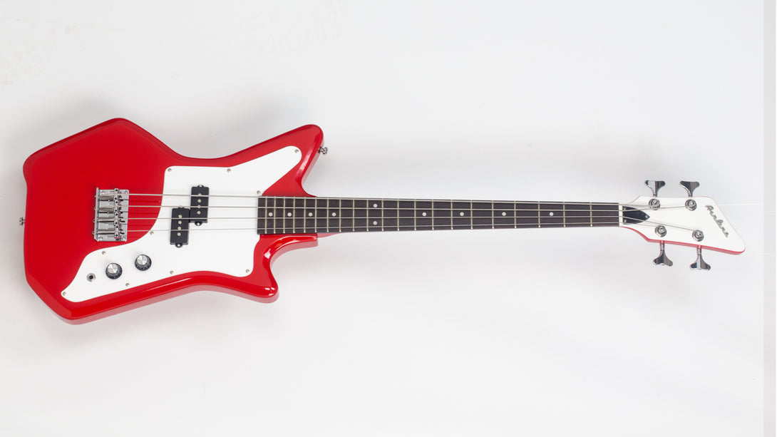 Eastwood Guitars Airline Jetsons JR Bass Red Angled