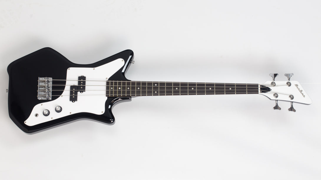 Eastwood Guitars Airline Jetsons JR Bass Black Angled