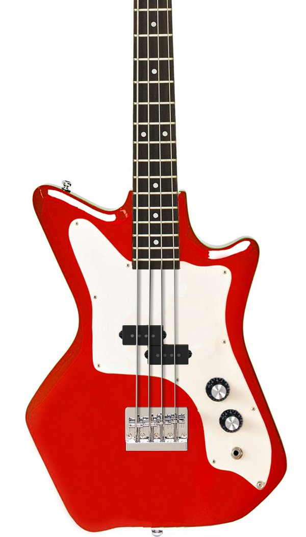 Eastwood Guitars Airline Jetsons JR Bass Red Featured
