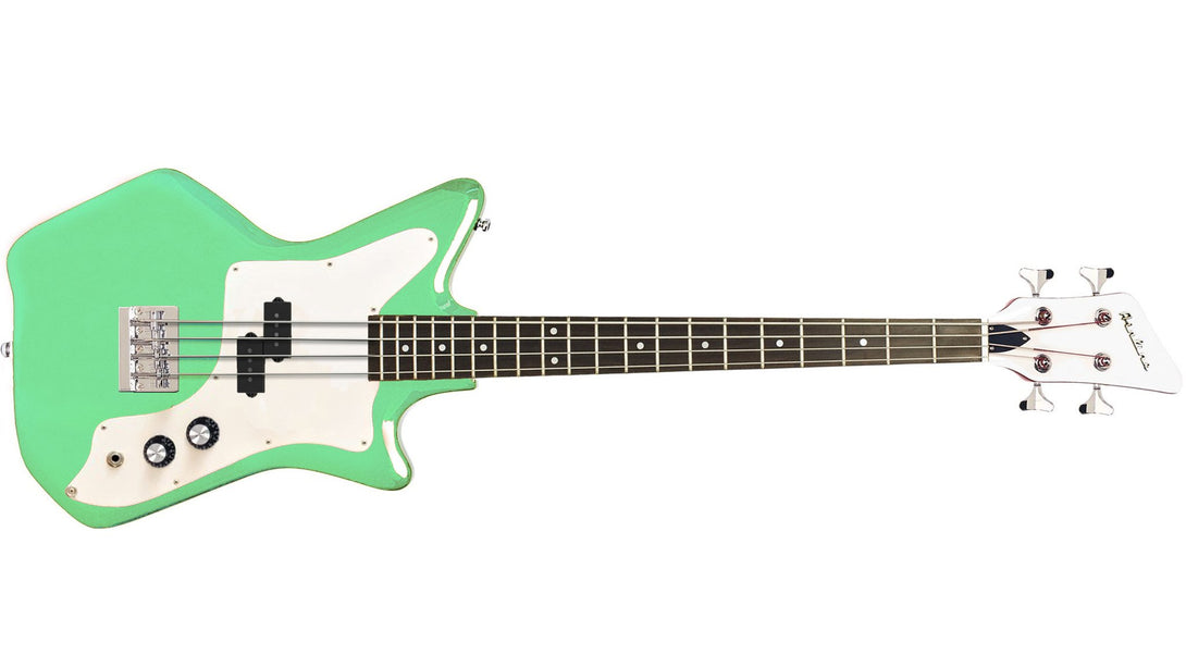 Eastwood Guitars Airline Jetsons JR Bass Seafoam Green Angled