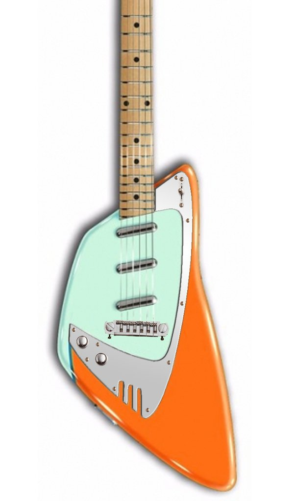 Eastwood Guitars Backlund Katalina Orange and Mint LH Featured