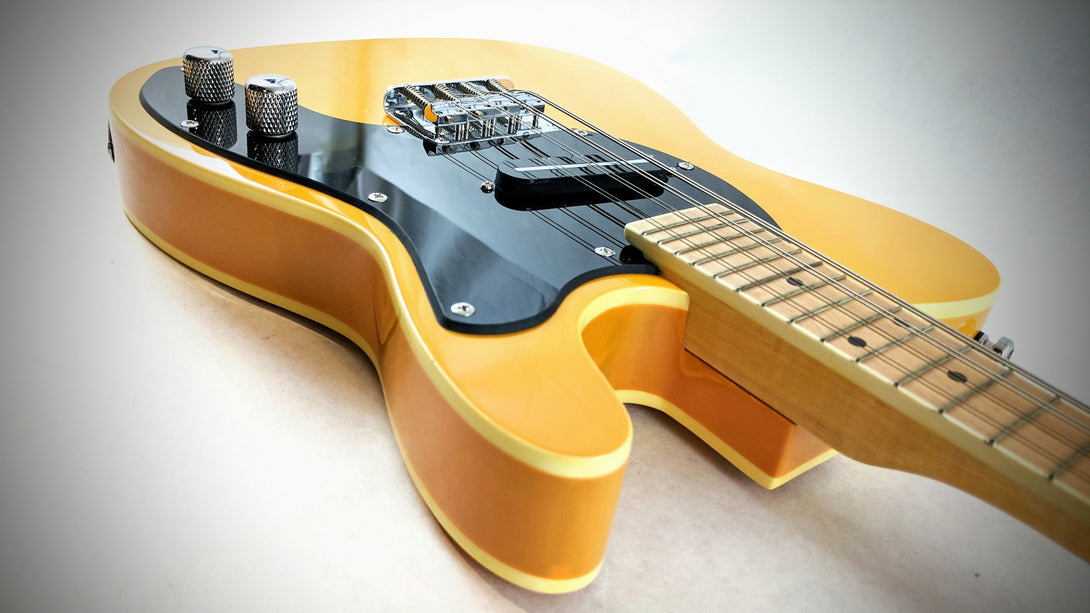 Eastwood Guitars Mandocaster 1P Butterscotch Head Back
