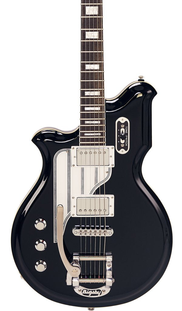 Eastwood Guitars Airline Map Baritone DLX LH Black Featured