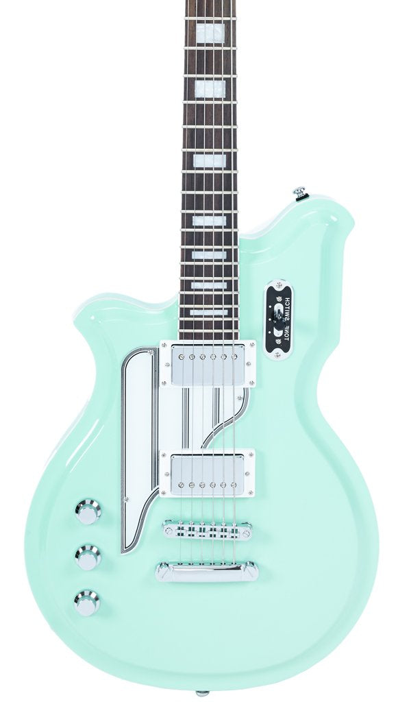 Eastwood Guitars Airline Map Baritone Seafoam Green LH Featured