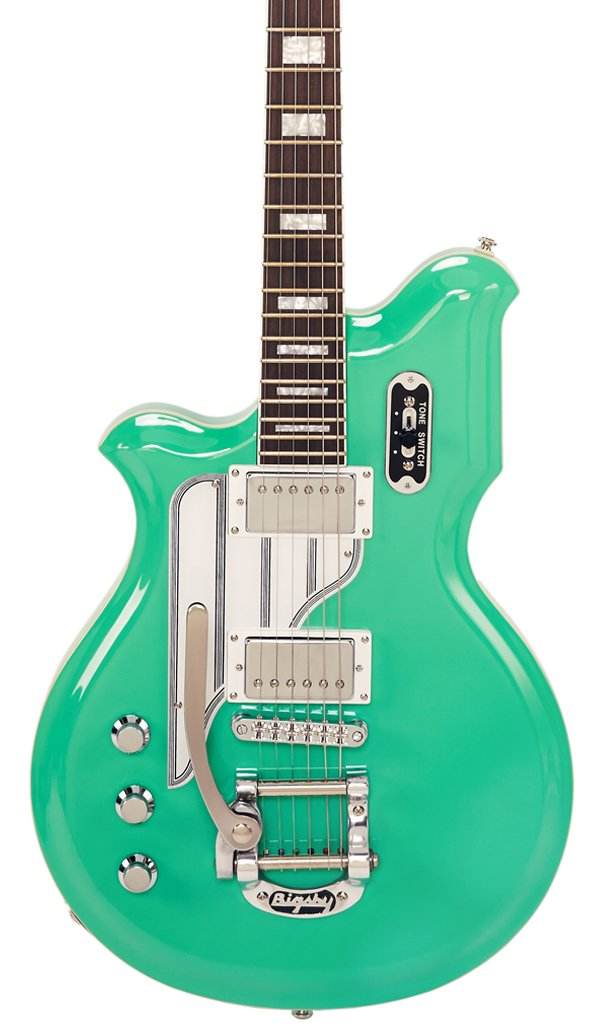 Eastwood Guitars Airline Map DLX Seafoam Green LH Featured