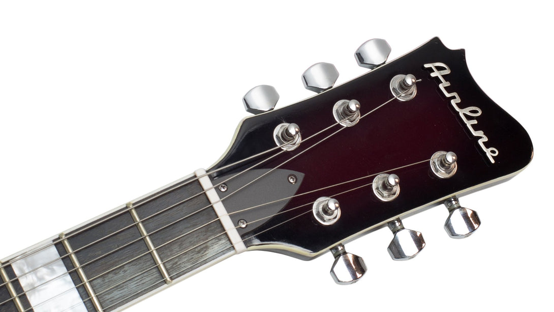 Eastwood Guitars Airline Mercury Burgundy Burst Headstock