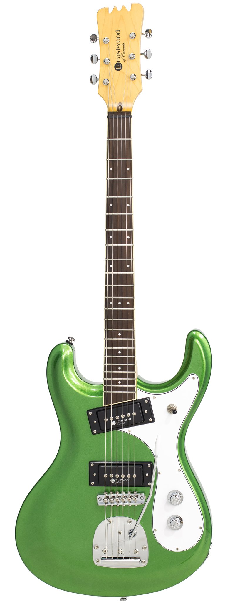 Eastwood Guitars Sidejack PRO DLX Candy Green Full Front