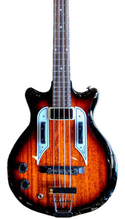 Eastwood Guitars Airline Pocket Bass Sunburst LH Featured