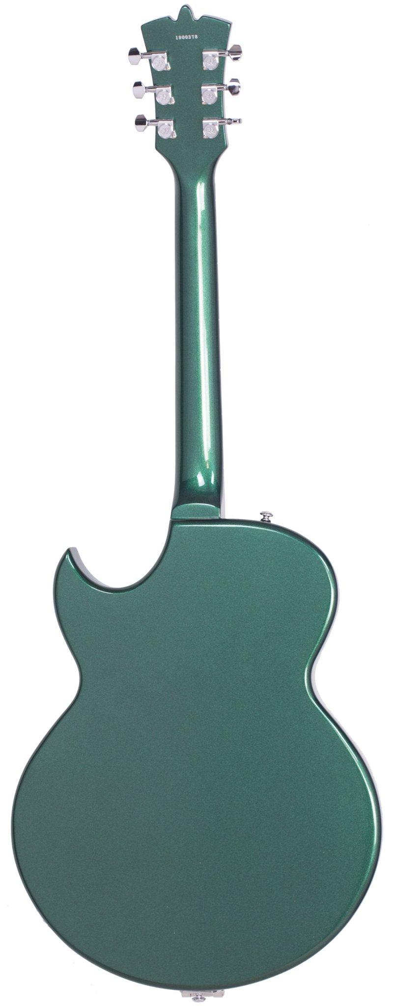 Eastwood Guitars Backlund Rockerbox II DLX Cadillac Green Full Back