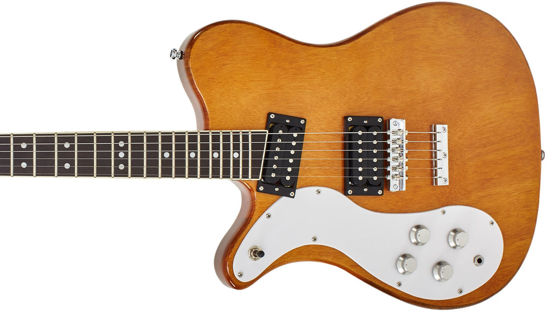 Eastwood Guitars Sidejack 300 Natural LH Closeup