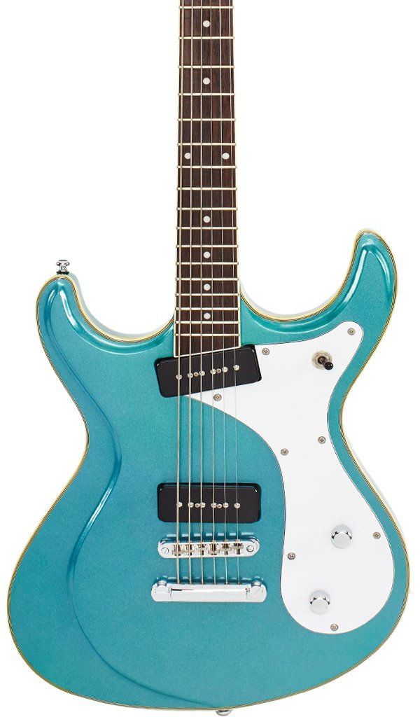 Eastwood Guitars Sidejack Baritone Metallic Blue Featured