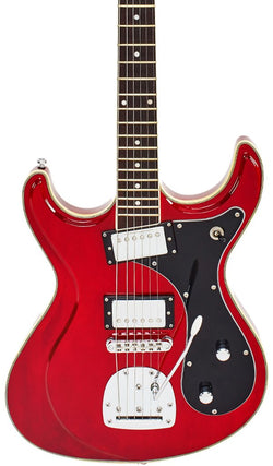 Eastwood Guitars Sidejack HB DLX Cherry Featured