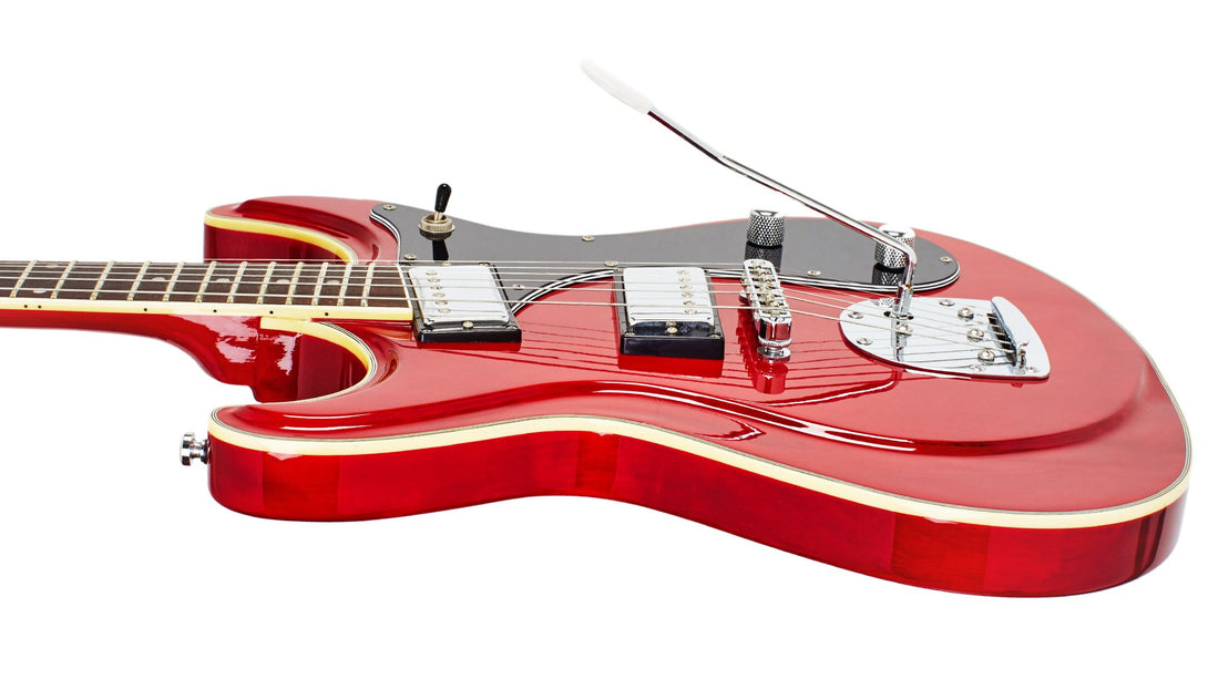 Eastwood Guitars Sidejack HB DLX Cherry Player POV