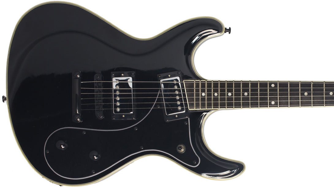 Eastwood Guitars Sidejack HB STD Black Closeup