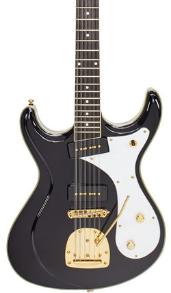 Eastwood Guitars Sidejack 12 DLX Black and Gold Featured