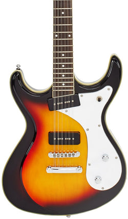 Eastwood Guitars Sidejack 12 Sunburst Featured