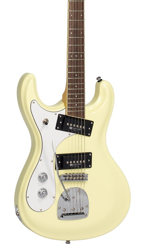 Eastwood Guitars Sidejack PRO DLX Vintage White LH Featured