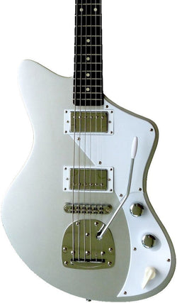 Eastwood Guitars Jeff Senn Model One Baritone Sonic Silver Featured