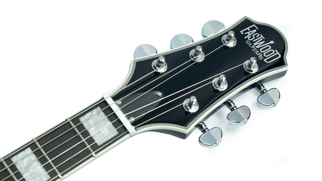 Eastwood Guitars Eastwood GP Black Headstock