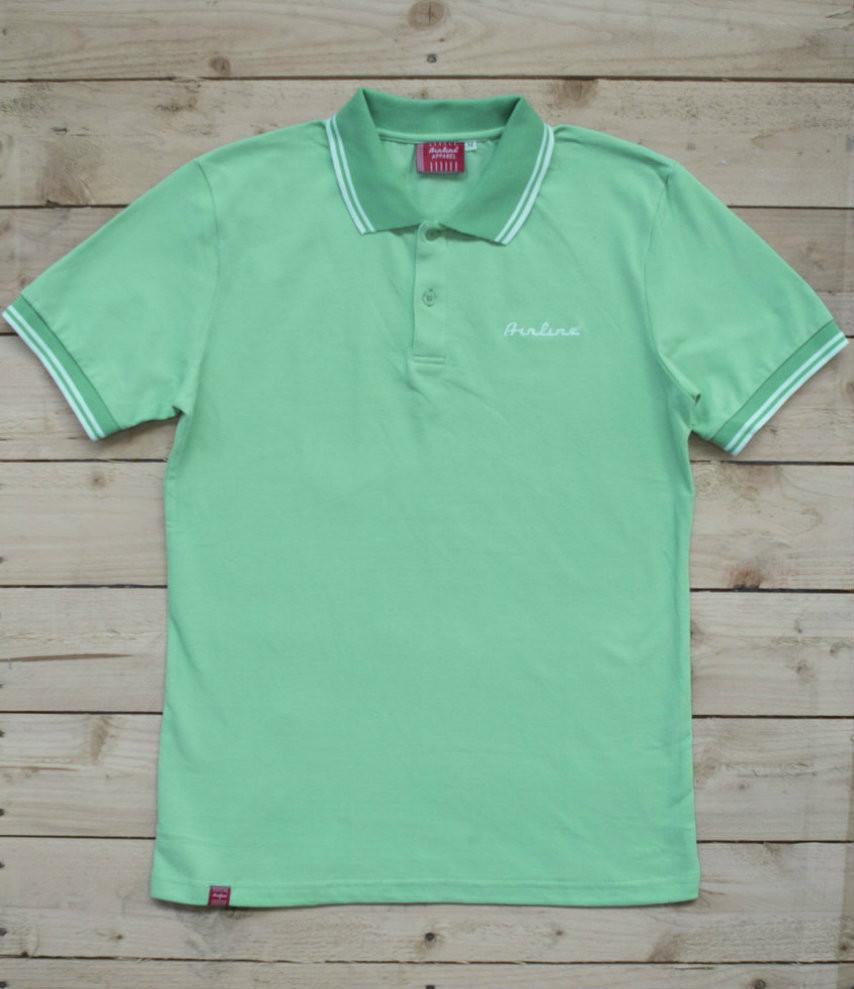 Eastwood Guitars Airline Polo Shirt Seafoam Green Featured