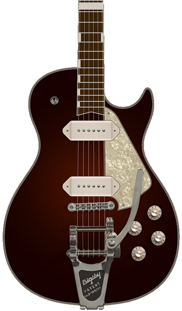 Eastwood Guitars Airline Mercury DLX Burgundy Burst Featured