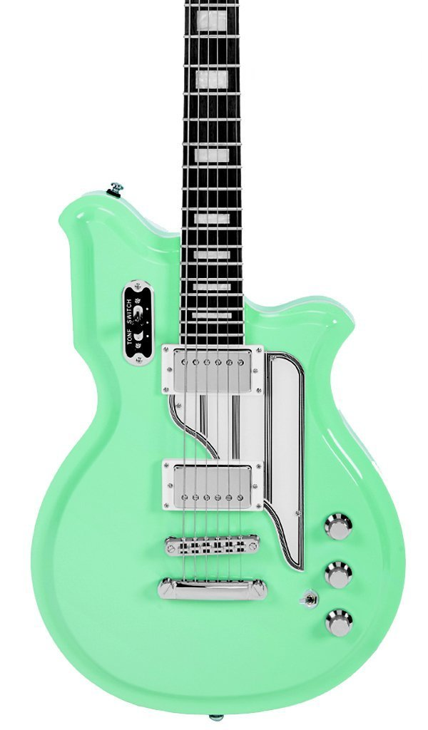 Eastwood Guitars Airline Map Colin Newman Signature Seafoam Green Featured