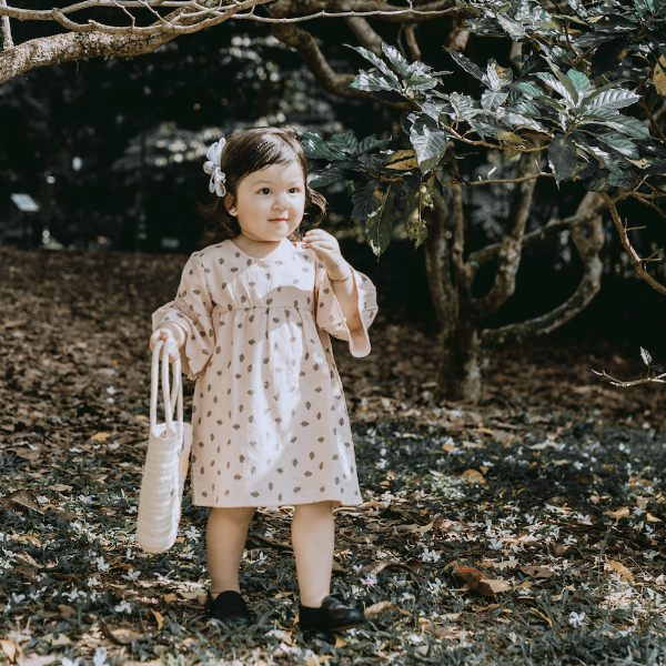 Selma Pink/Grey Woodland Dress - thesyarifs