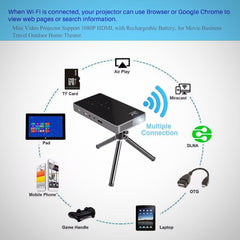 Mini Wifi Smart DLP Bluetooth Projector - The # 1 What If Store