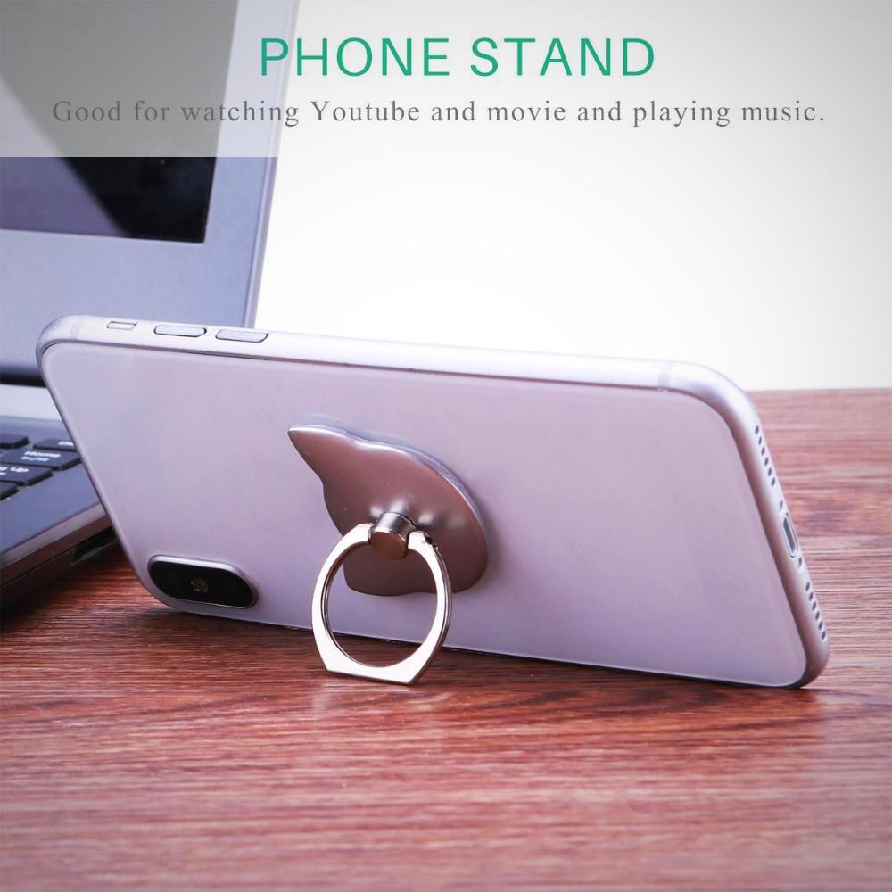 Cute Cat Phone Finger Grip 180 Degree Phone Mount