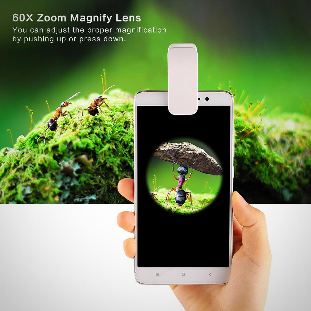 Really Cool 3-LED Lens Magnifier Clips To Your Phone For The Perfect Picture